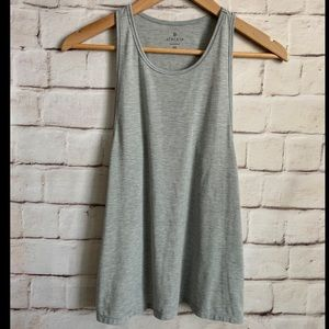 Athleta Tank Top, Racerback, Soft, Gray, XS